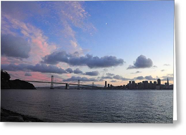 Recently Sold -  - Half Moon Bay Greeting Cards - San Francisco skyline Greeting Card by Srikanth Srinivasan