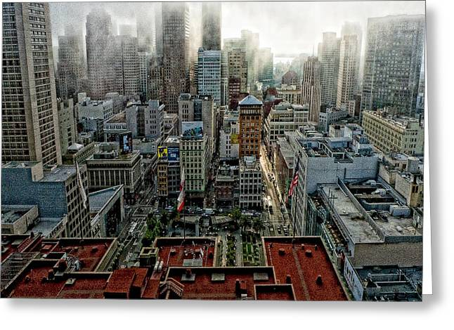 Hdr Effects Greeting Cards - San Francisco Skyline Greeting Card by Susan Stone