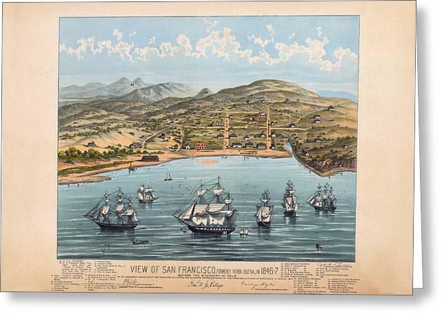 San Fransisco 1846 Greeting Card by Donna Leach