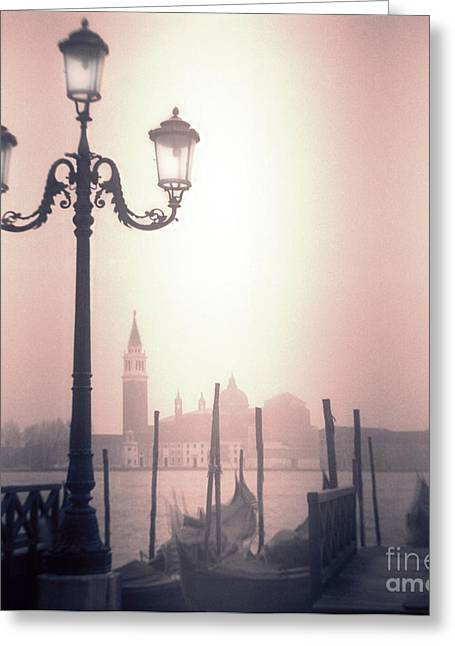 Toy Boat Greeting Cards - San Giorgio Maggiore Seen From Venice  Greeting Card by Janeen Wassink Searles