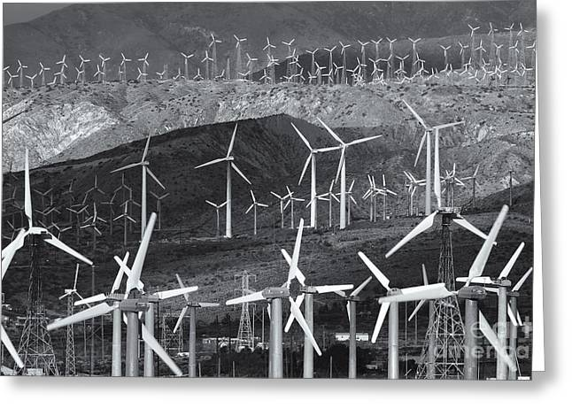 Generators Greeting Cards - San Gorgonio Pass Wind Farm III Greeting Card by Clarence Holmes
