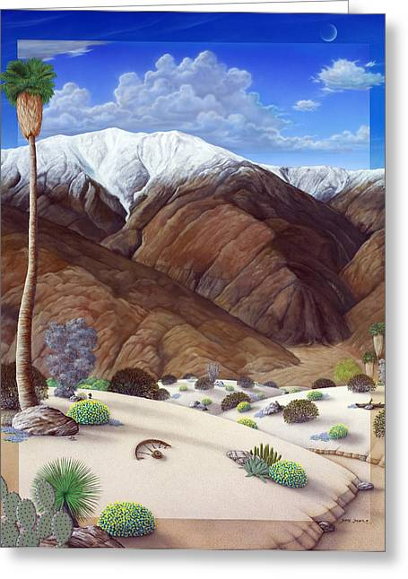 Desert Paintings Greeting Cards - San Jacinto  Greeting Card by Snake Jagger