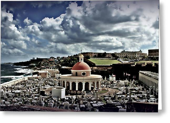 Best Ocean Photography Greeting Cards - San Jaun Cemetery Greeting Card by Perry Webster