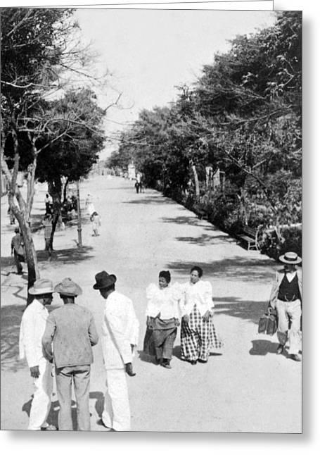 Ciudad Greeting Cards - San Juan - Calle de la Princesa - Puerto Rico - c 1899 Greeting Card by International  Images