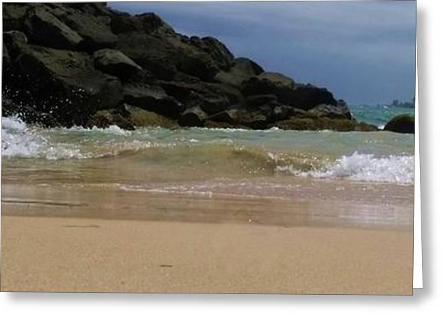 Anna Villarreal Garbis Greeting Cards - San Juan Beach 7 Greeting Card by Anna Villarreal Garbis