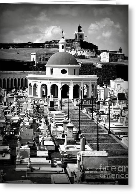 Best Ocean Photography Greeting Cards - San Juan Cemetery Greeting Card by Perry Webster