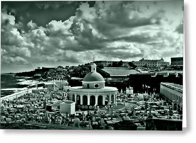 Best Ocean Photography Greeting Cards - San Juan Cemetey 2 Greeting Card by Perry Webster
