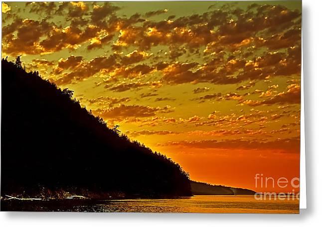 Haro Greeting Cards - San Juan Sunset Greeting Card by Robert Bales