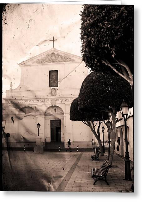 Quite Digital Art Greeting Cards - San Luis Greeting Card by Pedro Cardona