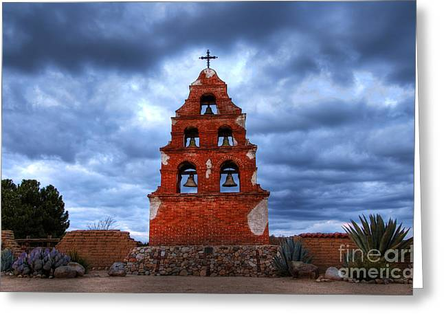 San Miguel Mission Greeting Card by Bob Christopher