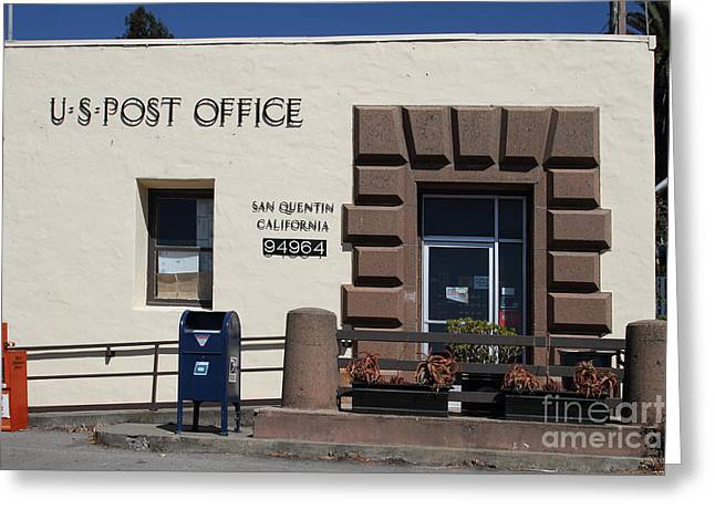 Postal Greeting Cards - San Quentin Post Office in California - 7D18549 Greeting Card by Wingsdomain Art and Photography