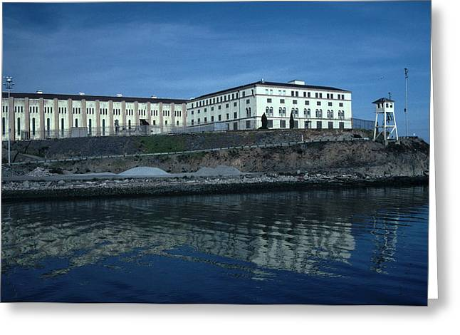 Marin County Greeting Cards - San Quentin Prison Greeting Card by Tom Wurl
