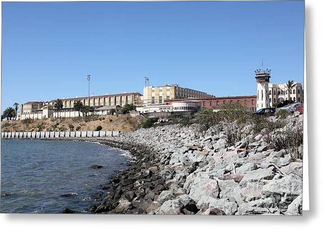 San Quentin State Prison In California - 5d18454 Greeting Card by Wingsdomain Art and Photography