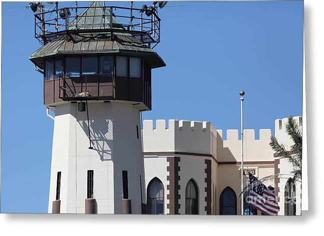 San Quentin State Prison In California - 5d18467 Greeting Card by Wingsdomain Art and Photography