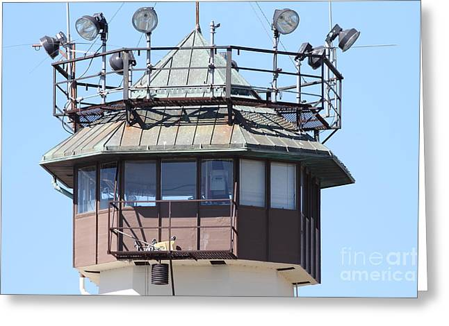 San Rafael Greeting Cards - San Quentin State Prison in California - 7D18534 Greeting Card by Wingsdomain Art and Photography