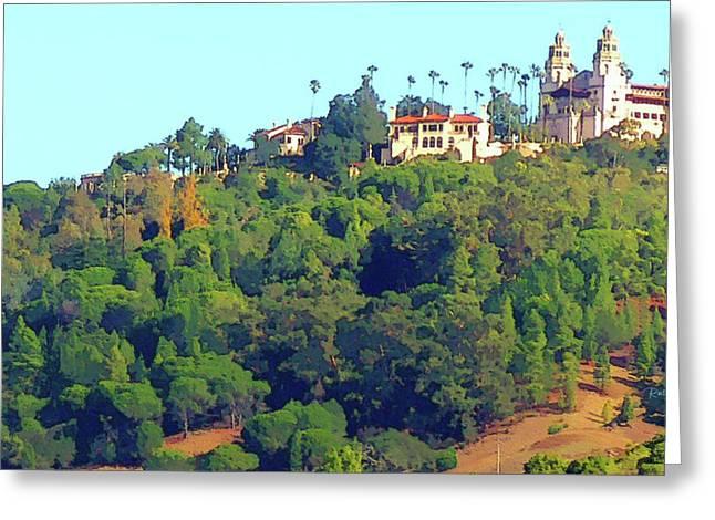 San Simeon Greeting Cards - San Simeon - Hearst Castle Greeting Card by Russ Harris