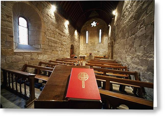 Reading Of Image Greeting Cards - Sanctuary Northumberland, England Greeting Card by John Short