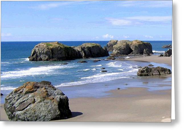 Sand And Sea Greeting Cards - Sand And Sea 11 Greeting Card by Will Borden