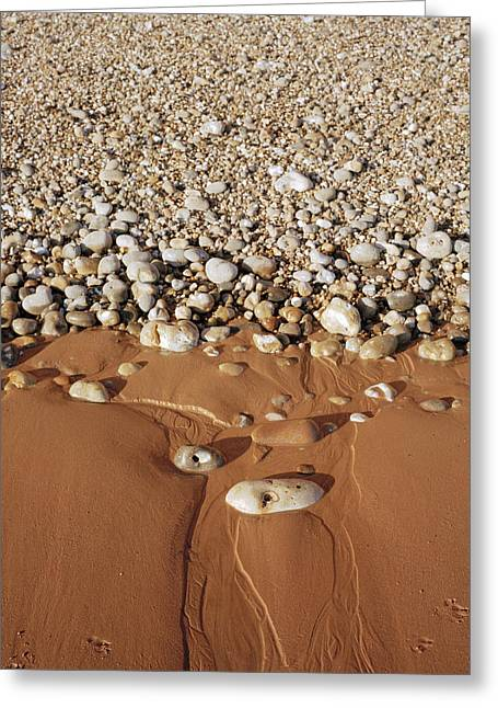 Gradations Greeting Cards - Sand And Shingle Greeting Card by Michael Marten
