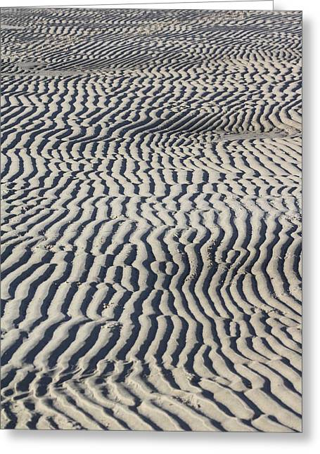 Sand Patterns Greeting Cards - Sand Art Work Greeting Card by Deb Kline
