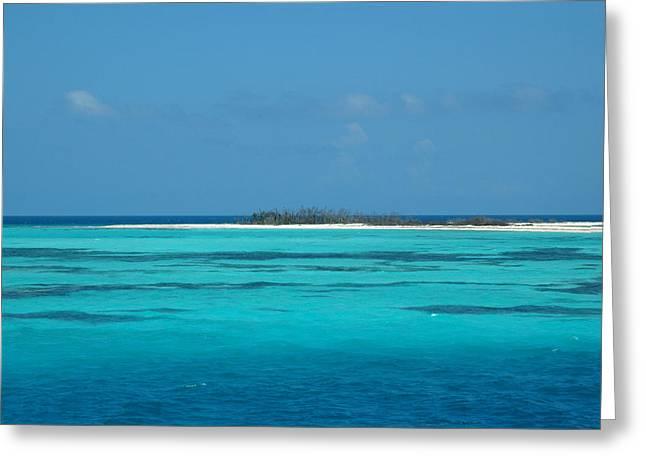 Tortuga Greeting Cards - Sand bar island Greeting Card by Susanne Van Hulst