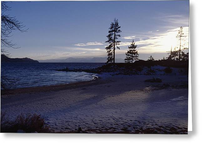 Sunset Bay State Park Greeting Cards - Sand Beach Winter Sunset Greeting Card by George Oze
