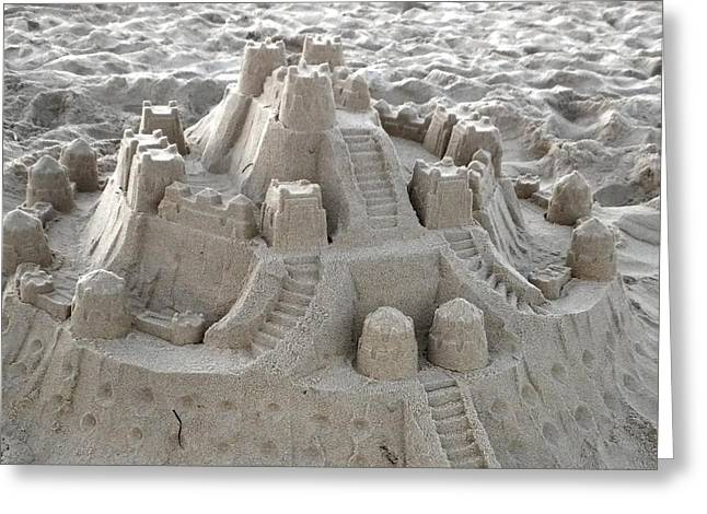 Sand Castles Digital Art Greeting Cards - Sand Castle Greeting Card by Paulette Thomas