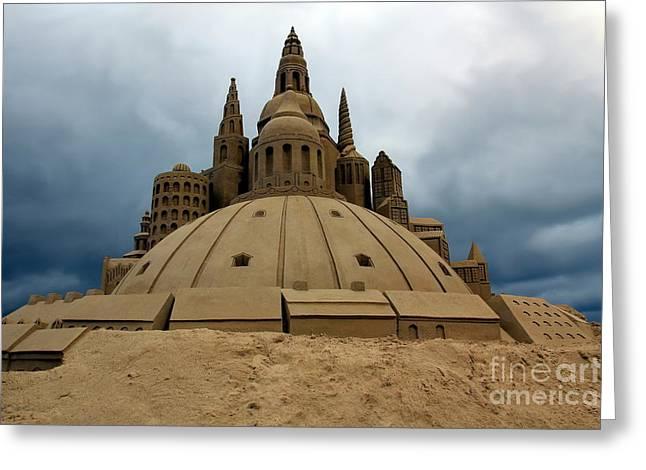 Sand Castles Photographs Greeting Cards - Sand Castle Greeting Card by Sophie Vigneault