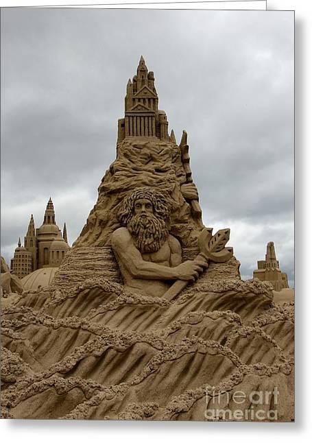 Sand Castles Photographs Greeting Cards - Sand Castles Greeting Card by Sophie Vigneault