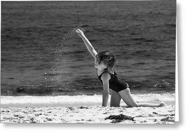 Sand Dancer Greeting Card by Michelle Wiarda