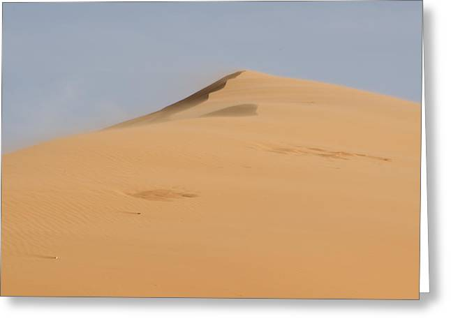 Coral Pink Sand Dunes Greeting Cards - Sand Dune Greeting Card by Heather Applegate