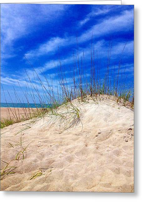 Marlin Tournaments Greeting Cards - Sand Dune  Greeting Card by Joan Meyland