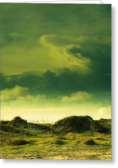 Surreal Landscape Greeting Cards - Sand Dunes and Clouds Greeting Card by Marilyn Hunt