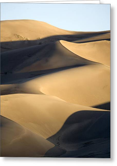 Colorado Sand Dunes Greeting Cards - Sand Dunes At Sunset Greeting Card by Michael S. Lewis
