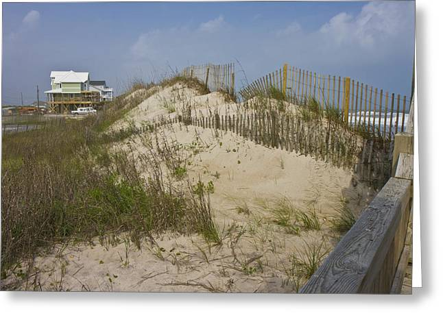 Topsail Island Photographs Greeting Cards - Sand Dunes II Greeting Card by Betsy A  Cutler