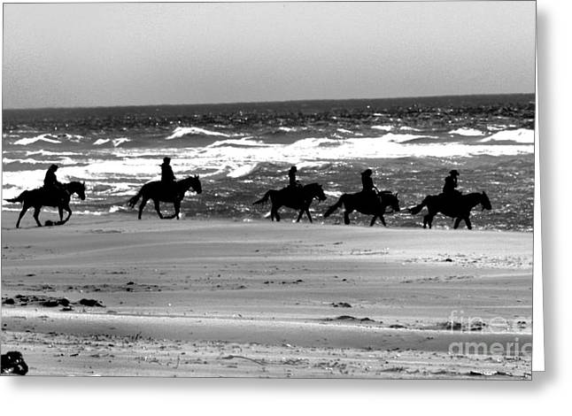 Horse And Riders Greeting Cards - Sand Riders 2 Greeting Card by Nick Gustafson