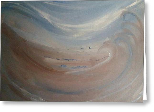 Exhibitionist Greeting Cards - Sand storm dreams Greeting Card by Barbara Krebs