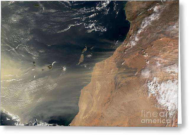 Spectrometer Greeting Cards - Sand Storm Greeting Card by NASA / Science Source