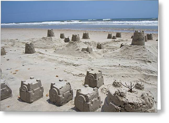 Sand Castles Greeting Cards - Sandcastle Greeting Card by Betsy C Knapp