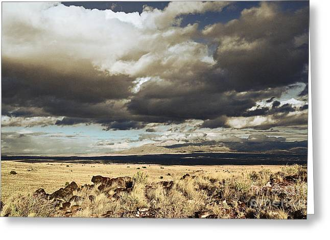 Sandias Greeting Cards - Sandia Autumn Countryside Greeting Card by Andrea Hazel Ihlefeld