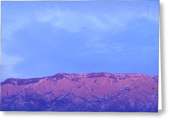 Recently Sold -  - Watermelon Greeting Cards - Sandia Mountains Greeting Card by Jera Sky