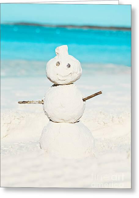 Sandman Snowman Greeting Cards - Sandman Greeting Card by Kim Fearheiley