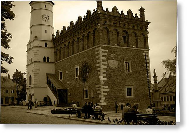 Sandomierz Sepia Greeting Card by Kamil Swiatek