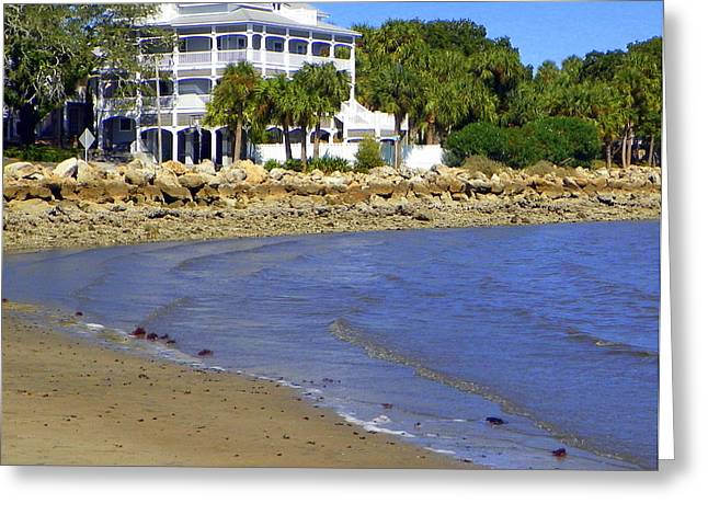 Cedar Key Greeting Cards - Sandsplit Beach View I Greeting Card by Sheri McLeroy