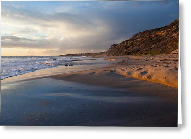 Sandstone Bluffs Greeting Cards - Sandstone Bluffs  Crystal Cove State Beach Greeting Card by Cliff Wassmann