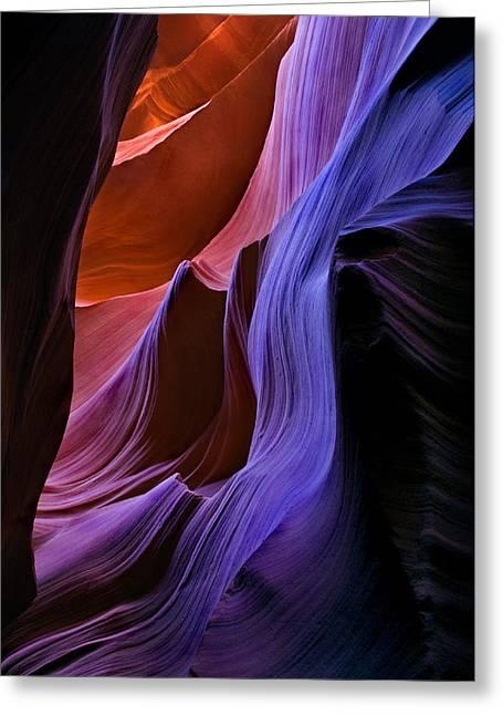 Sandstone Greeting Cards - Sandstone Cascade Greeting Card by Mike  Dawson