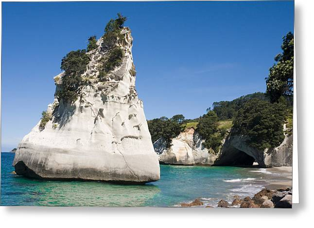 Cathedral Rock Greeting Cards - Sandstone Island Greeting Card by Himani - Printscapes