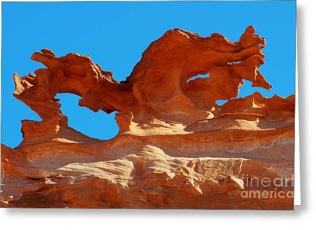 Hobgoblin Greeting Cards - Sandstone Magic Greeting Card by Bob Christopher