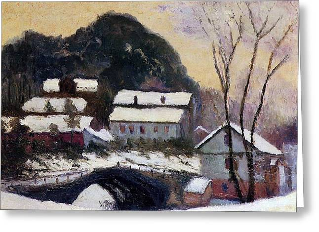 Norway Village Greeting Cards - Sandviken Norway Greeting Card by Claude Monet