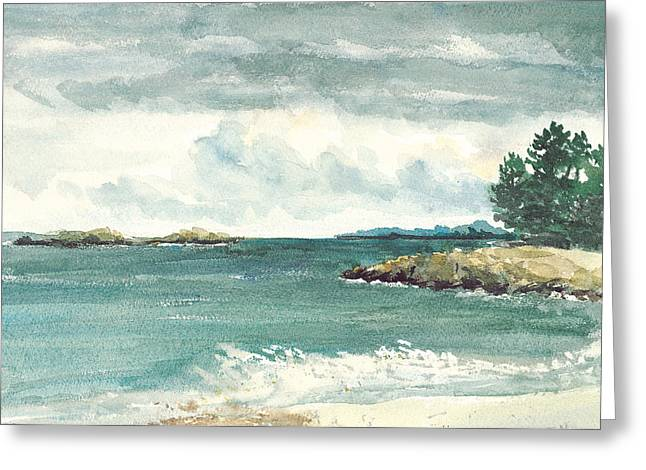 Cohasset Greeting Cards - Sandy Beach Greeting Card by Paul Gardner